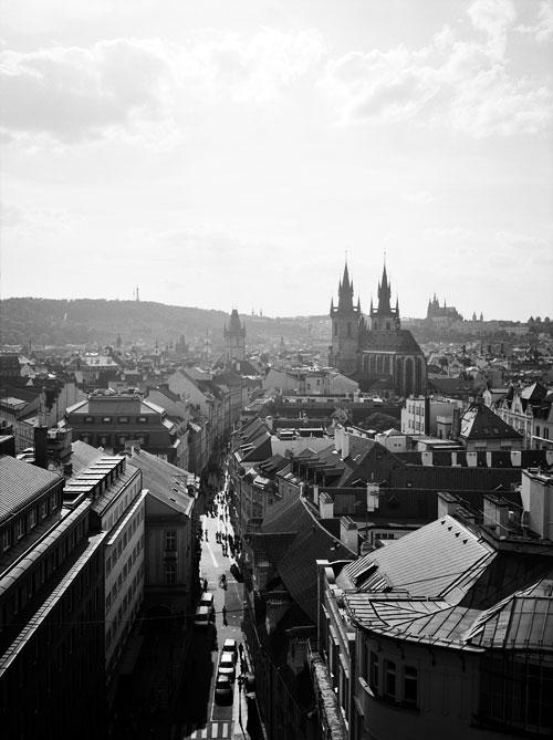 Aerial view of Prague