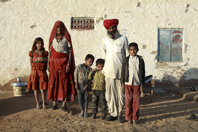 Rajasthan family portrait